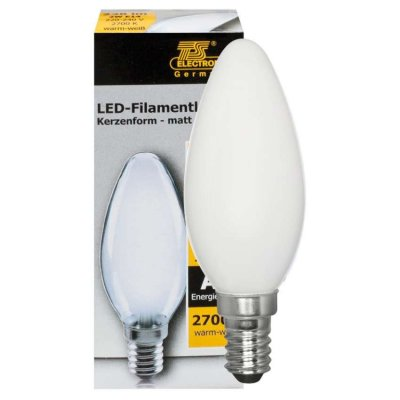 LED Filament Kerze 4W E14 matt